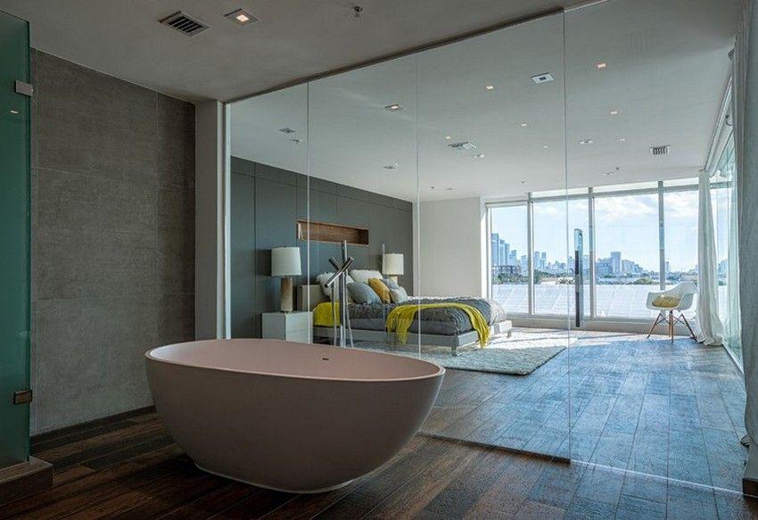 25 sensuous open bathroom concept for master bedrooms - Master Bedroom With Open Bathroom