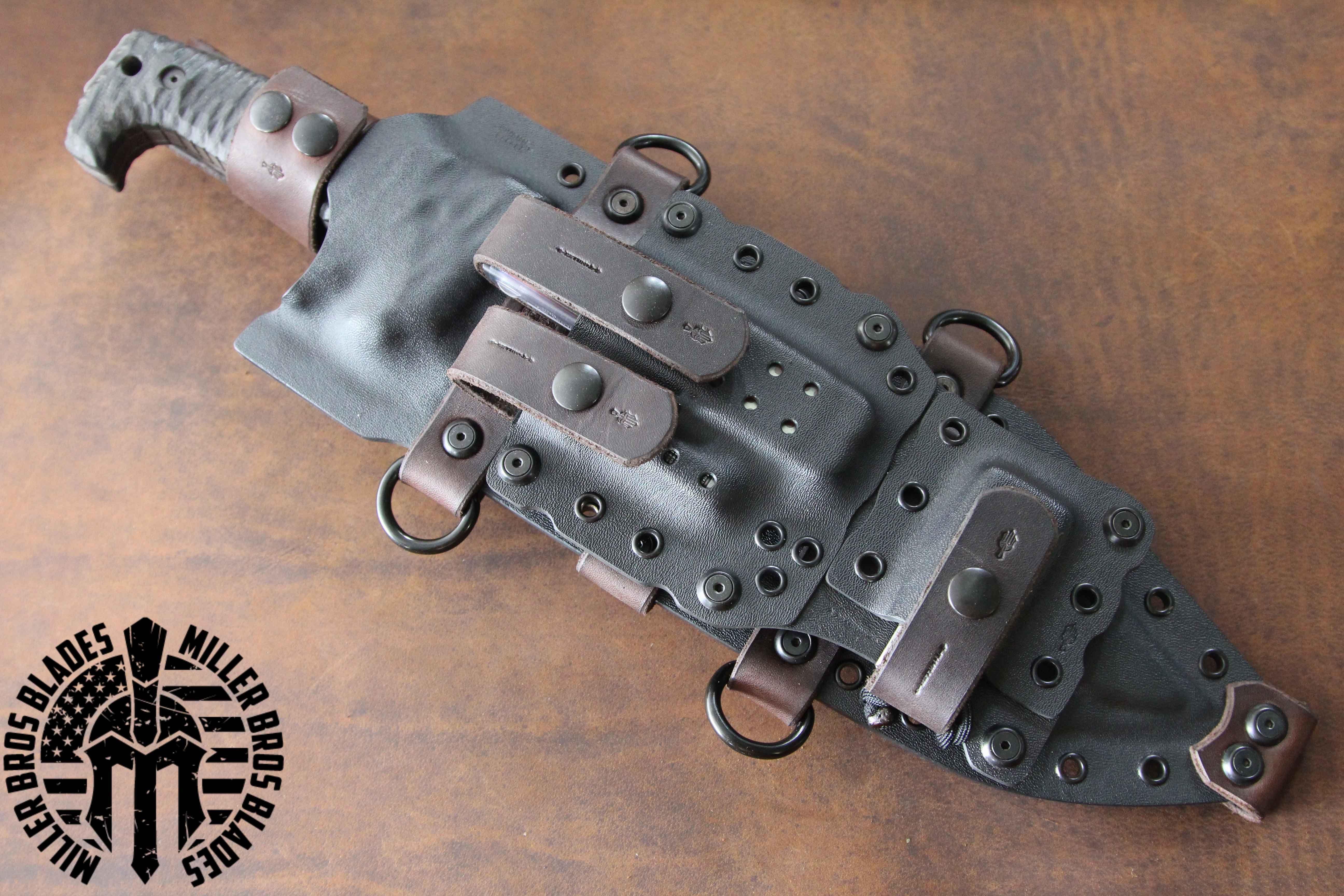 Miller Bros Blades M 28 Knife with custom Kydex sheath This model