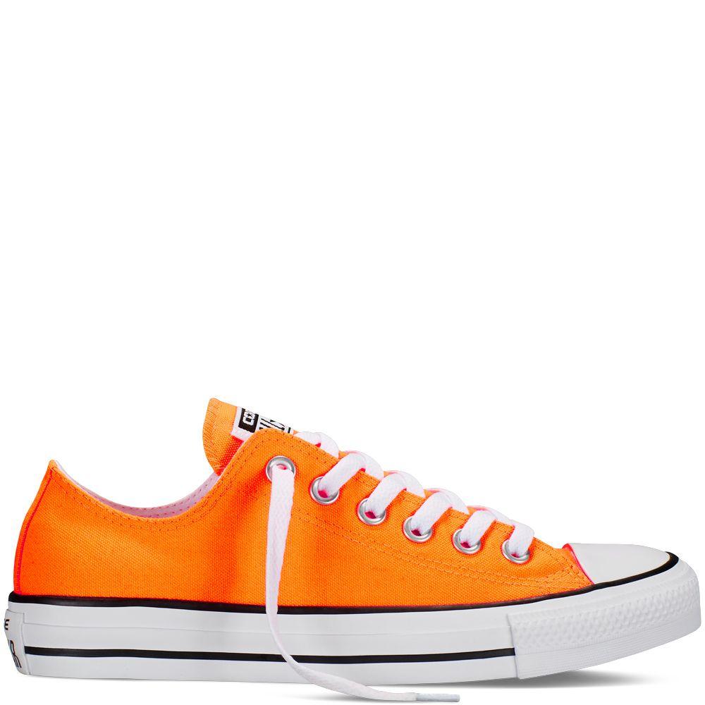 Neon orange Converse | Chuck taylors