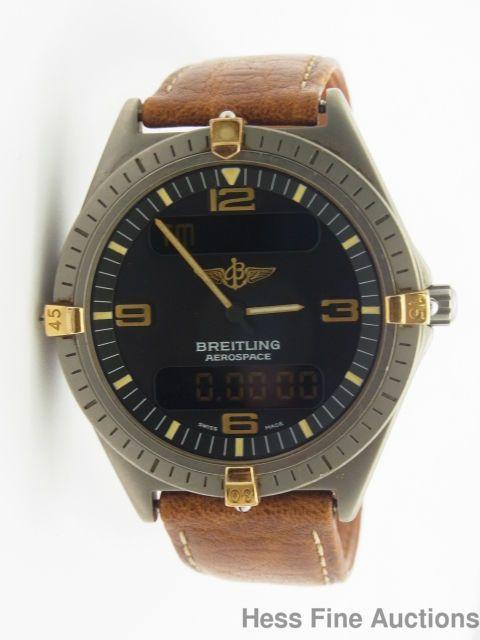 scarce 18k gold titanium breitling aerospace chronograph chronometer rh pinterest co uk Breitling Bentley Motors Special Edition Breitling Bentley Flying B