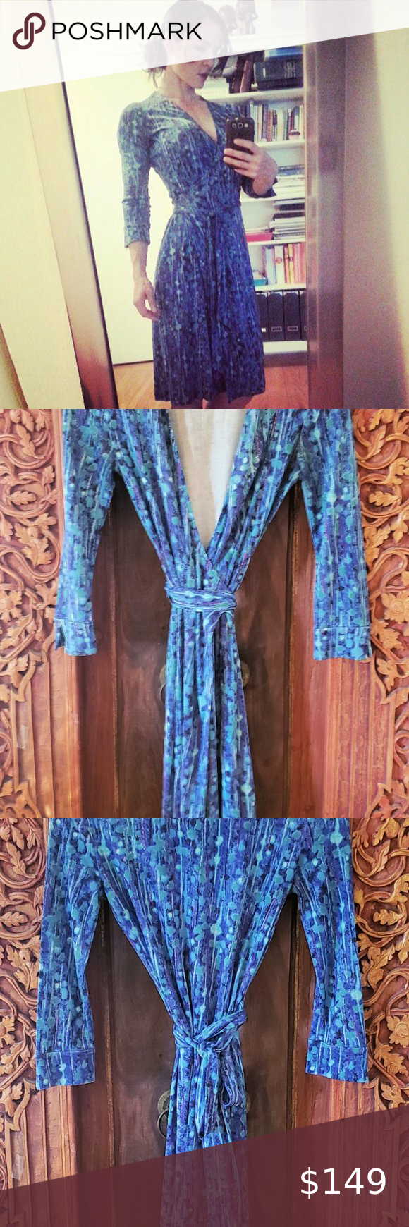 Rare Vintage Diane Von Furstenberg Silk Wrap Dress Silk Wrap Dresses Wrap Dress Dvf Wrap Dress [ 1740 x 580 Pixel ]