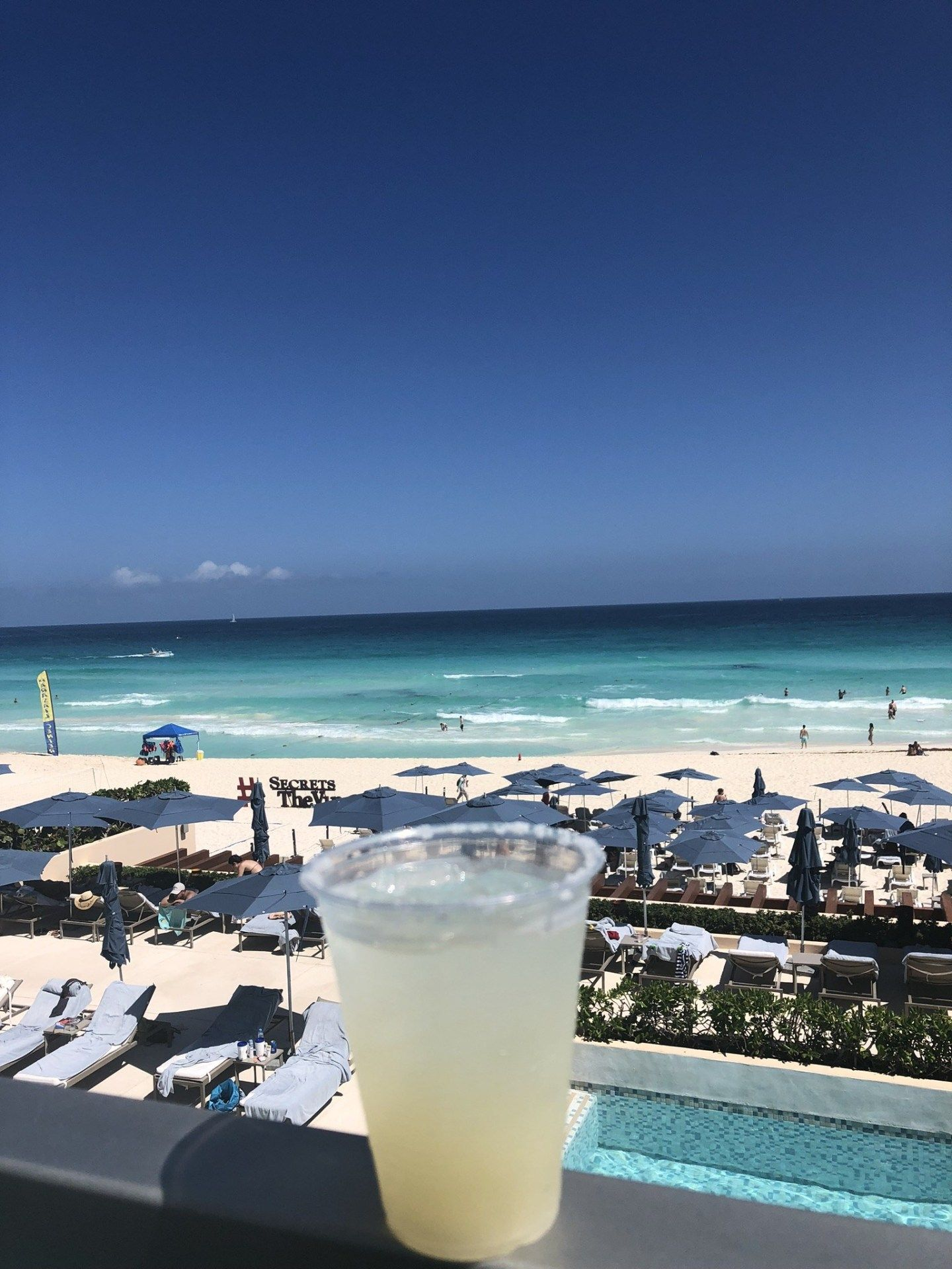 A Tasty Margarita By The Beach At Secrets The Vine, Cancún
