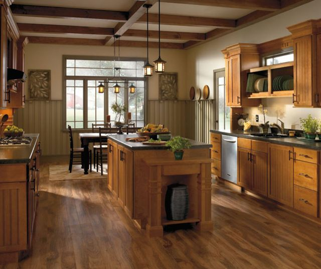 rustic cherry saddle cabinets | Aristokraft cabinetry ...