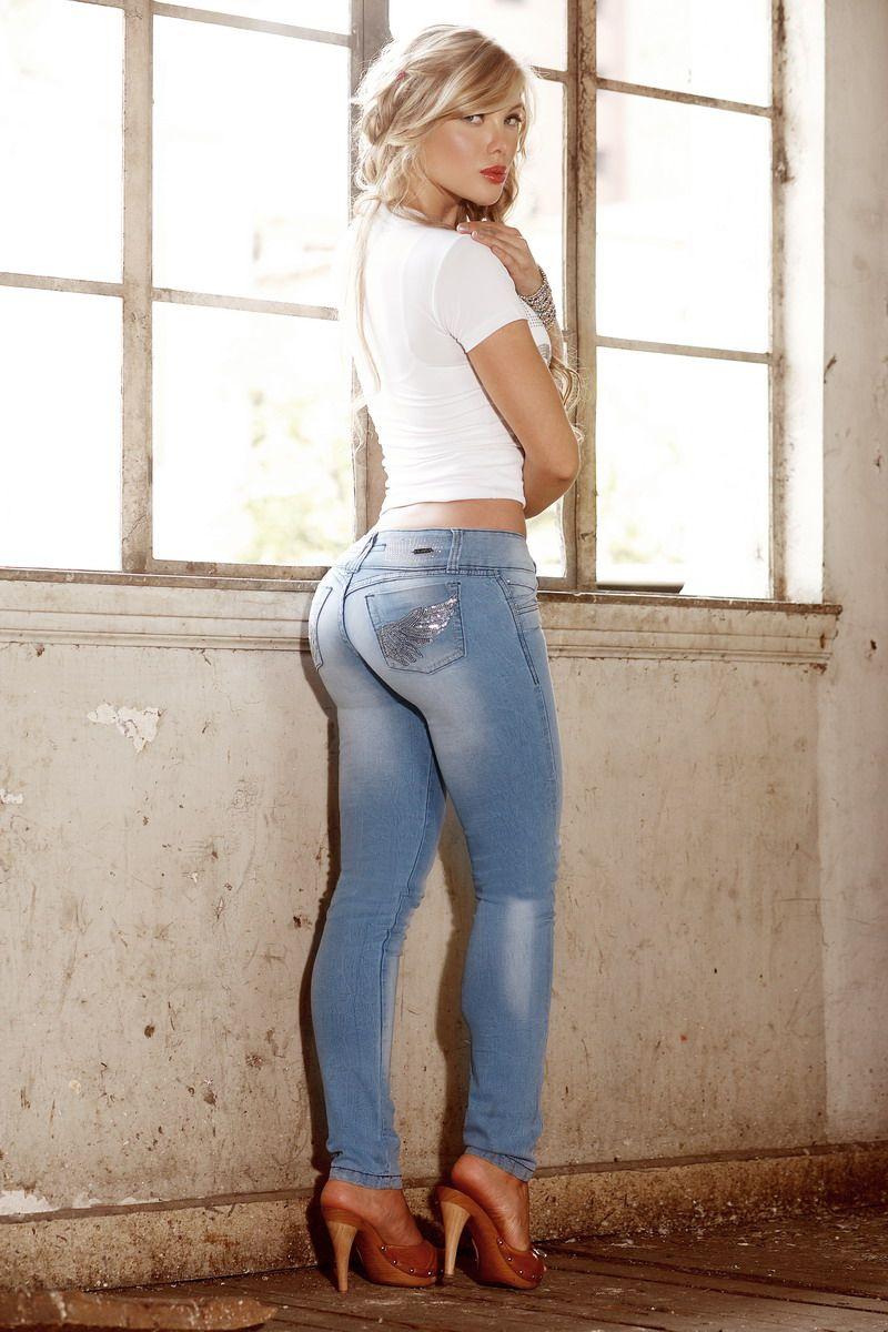 Sofia Jaramillo Las Modelos Mas Lindas Del Mundo Lgs Slim Fit Ladies Shirt Blue White Plaid Biru Xxl