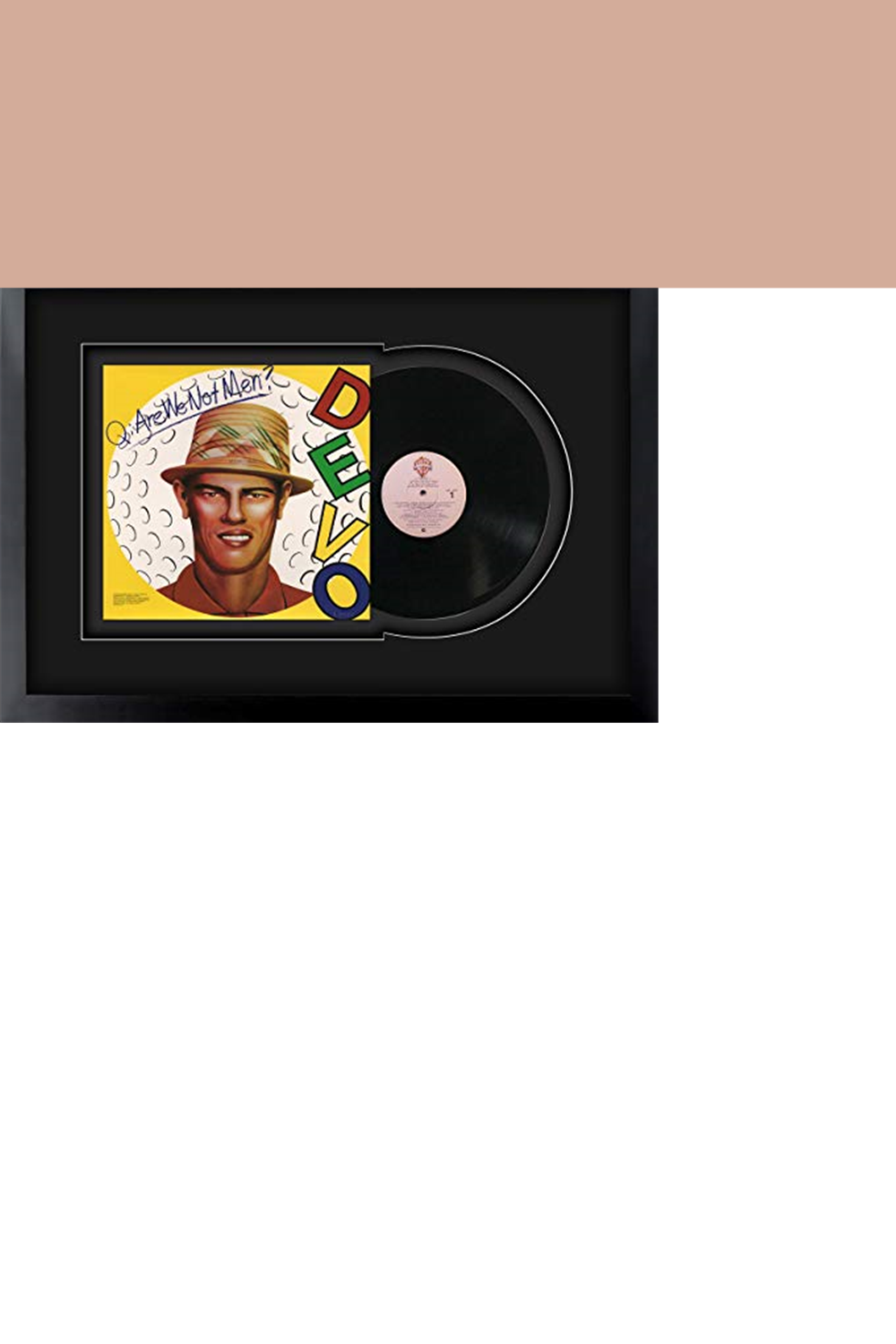 Devo Q Are We Not Men A We Are Devoa Album Lp Record Framed And Ready To Hang Framed Vinyl Record In 2020 Framed Records Vinyl Records Are We Not Men