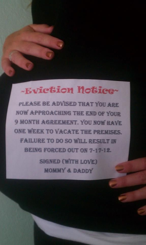 Baby Eviction Notice u003c3 I love youbut GET OUT! *Baby - eviction notice
