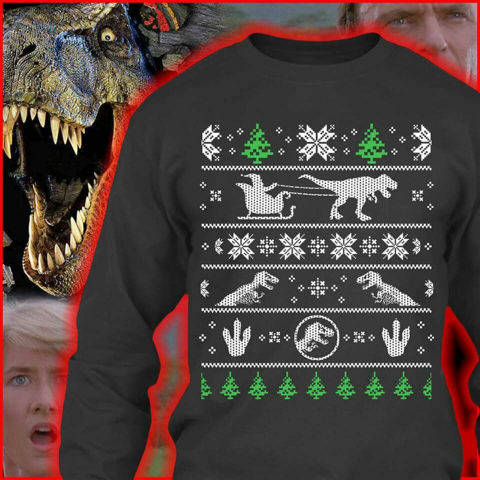 Jurassic Park Ugly Christmas Sweater Whats On Pinterest