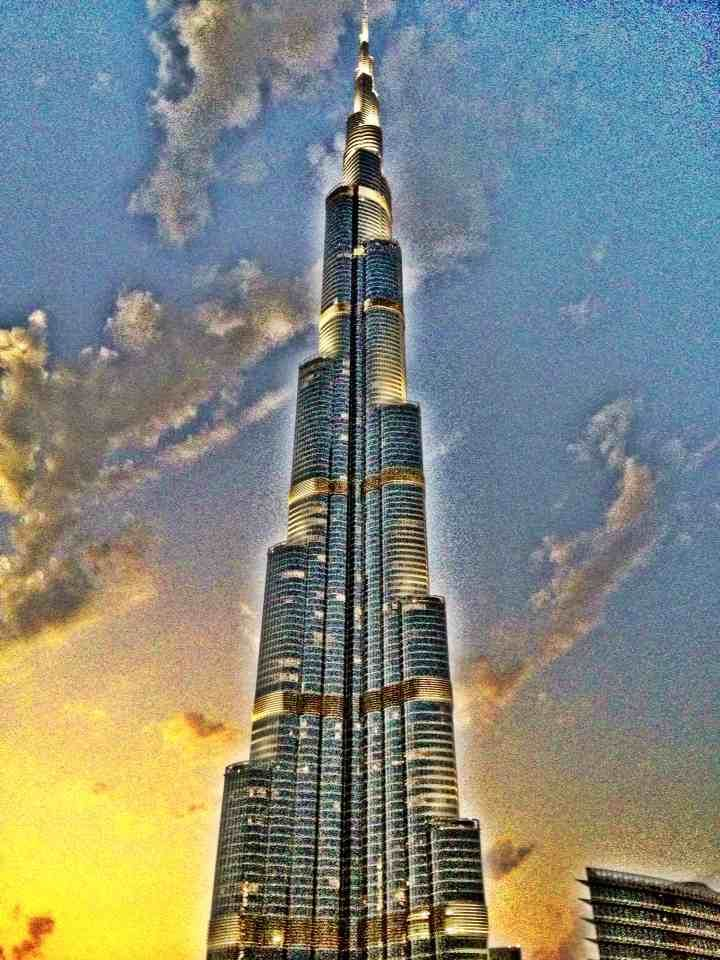 The tallest building in the world: The Burj Khalifa!