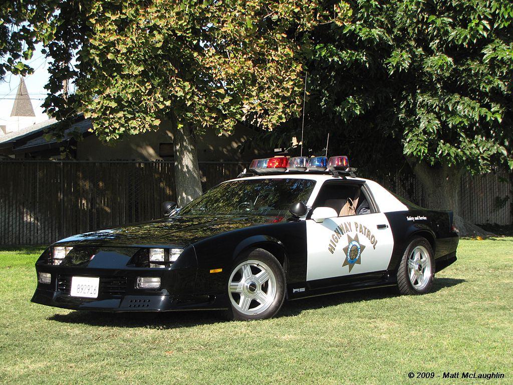 Officer ryan briceland california highway patrol 1992 chevrolet camaro best restored special service pursuit package ripon emergency vehicle show 2009