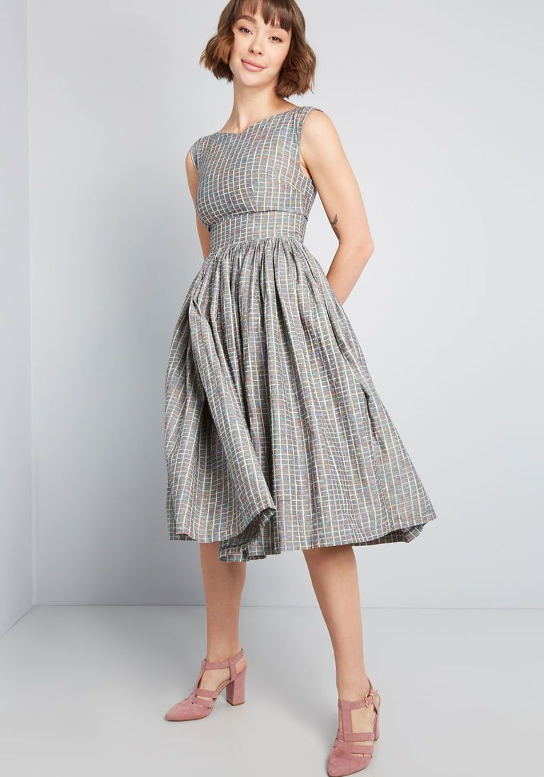 Fabulous fit and flare dress with pockets fit and flare