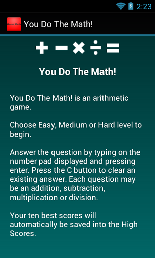You Do the Math ?<p>Keep your mind healthy, test your mental math ...