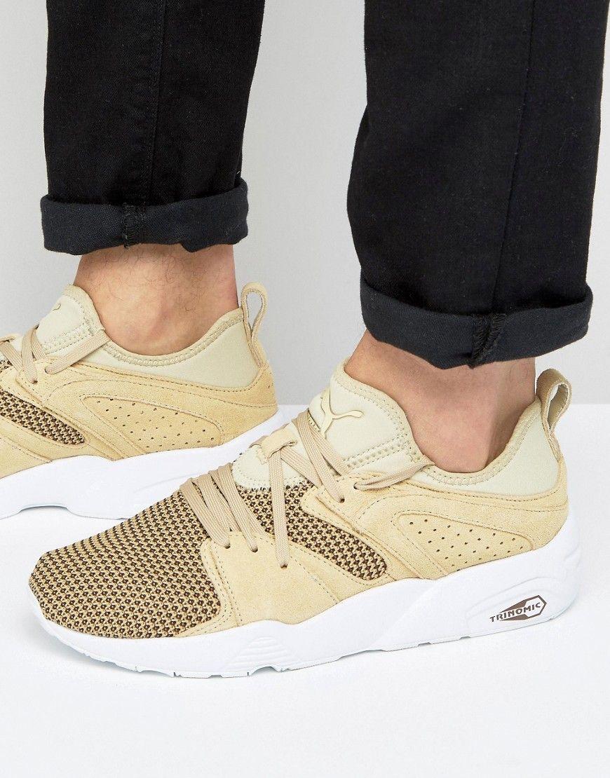 e3b4813efe61b7 Puma Blaze Of Glory Soft Tech Sneakers In Beige 36412804 - Beige