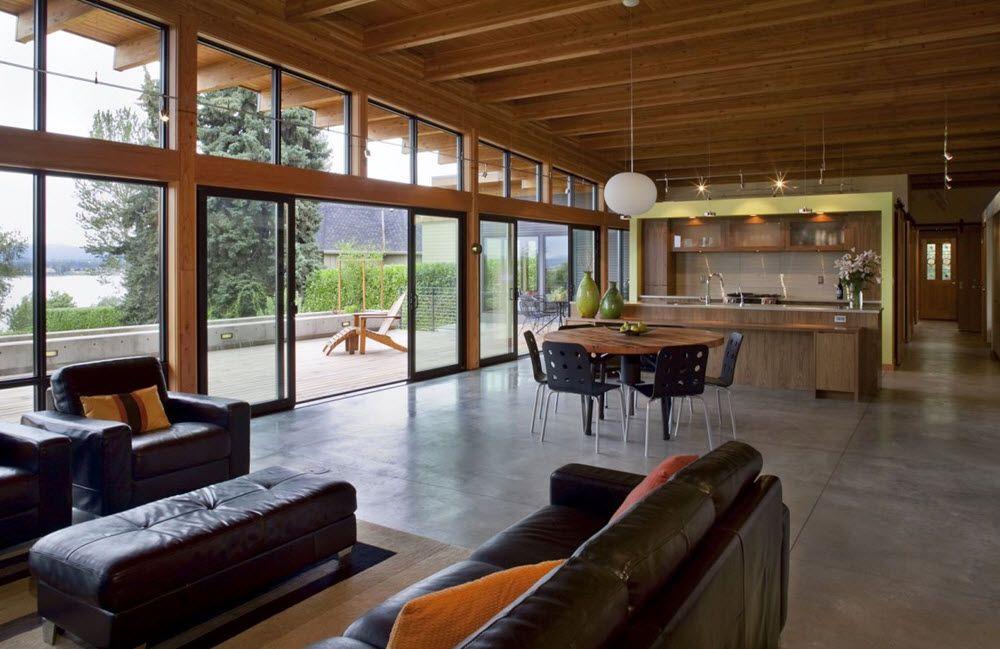 Moderno Interior En Madera Casas Campo En 2019 Casas De