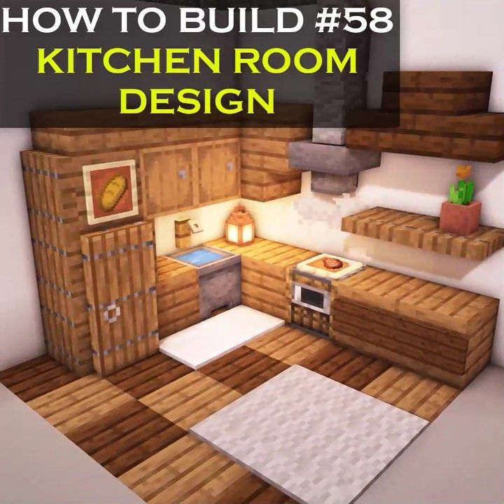 Vexelville On Instagram New Minecraft Interior Tutorial For Building A Complete Kitchen Room De In 2020 Minecraft Interior Design Minecraft Designs Minecraft Room