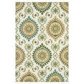 Found it at Wayfair - Francesca Ivory/Aqua Floral Area Rug