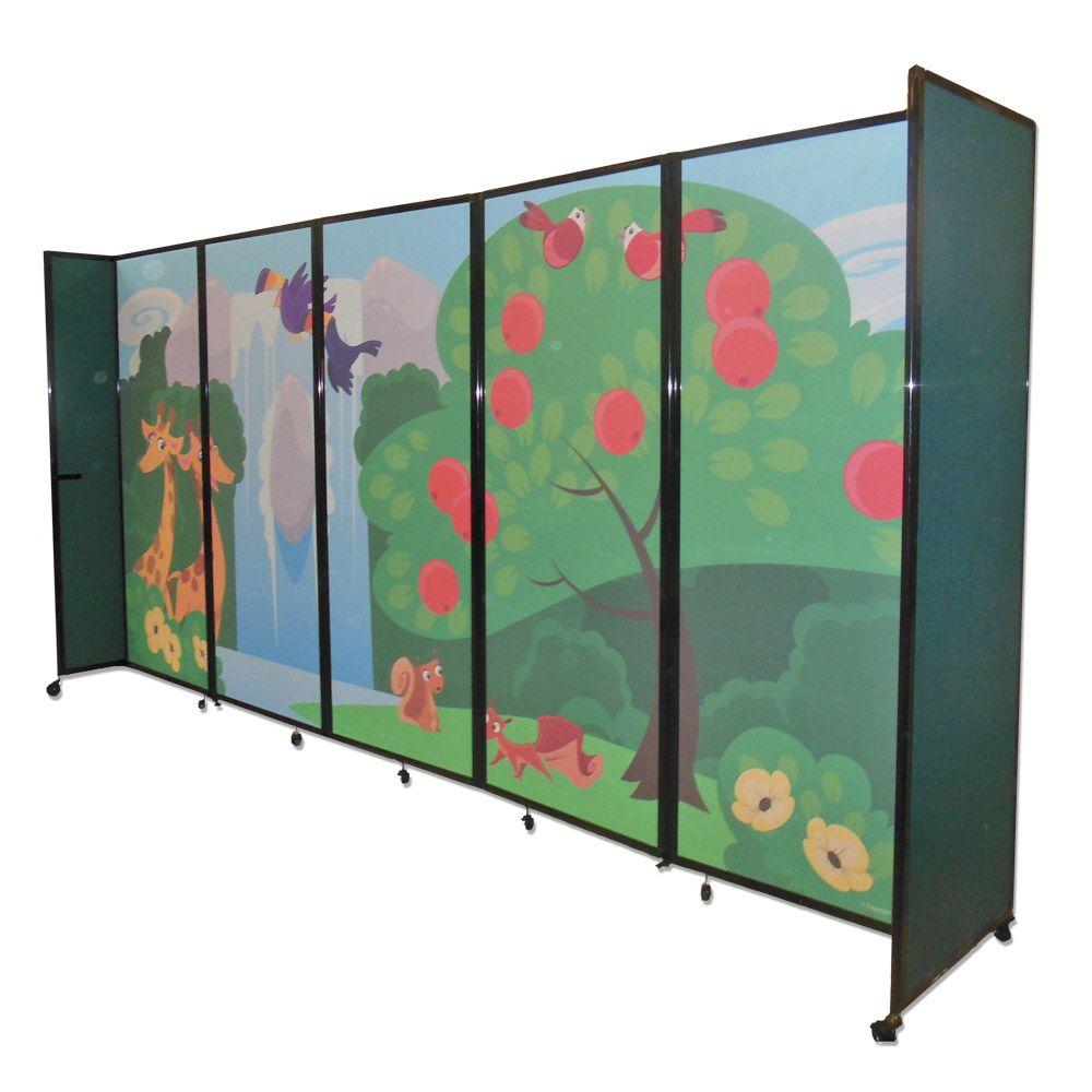 Custom printed Versare Room Divider 360 for daycare Design printed