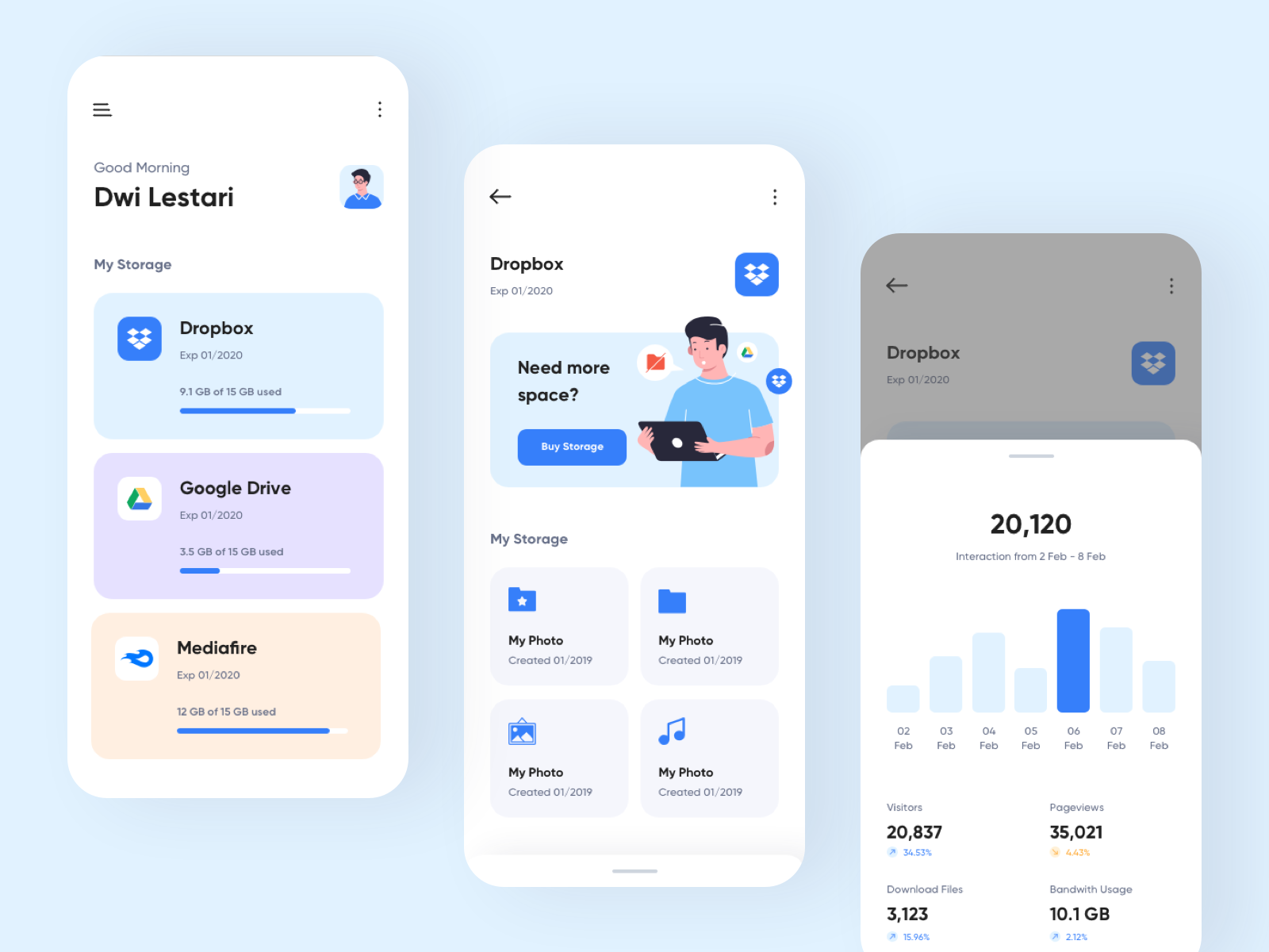 Kendi Management Cloud Storage App in 2020 App design