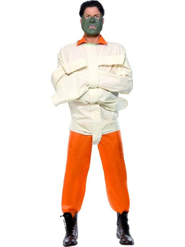 Adulte Halloween Horreur Hannibal Straight Jacket et masque Fancy Dress Outfit