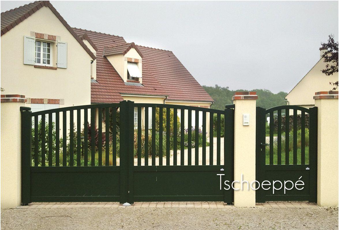 portillon et portail battant zenox contraste http www. Black Bedroom Furniture Sets. Home Design Ideas