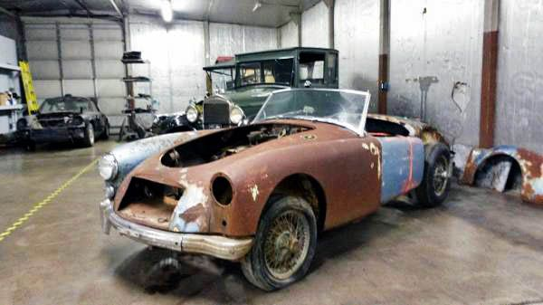 All Curves and Rust: 1958 MGA - http://barnfinds.com/all-curves-and-rust-1958-mga/
