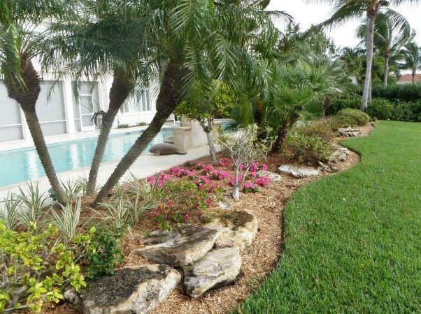 Florida Gardening Ideas Florida landscaping ideas south florida landscaping ideas i cant florida landscaping ideas south florida landscaping ideas i cant do the palm trees but the landscaping shape is very nice workwithnaturefo