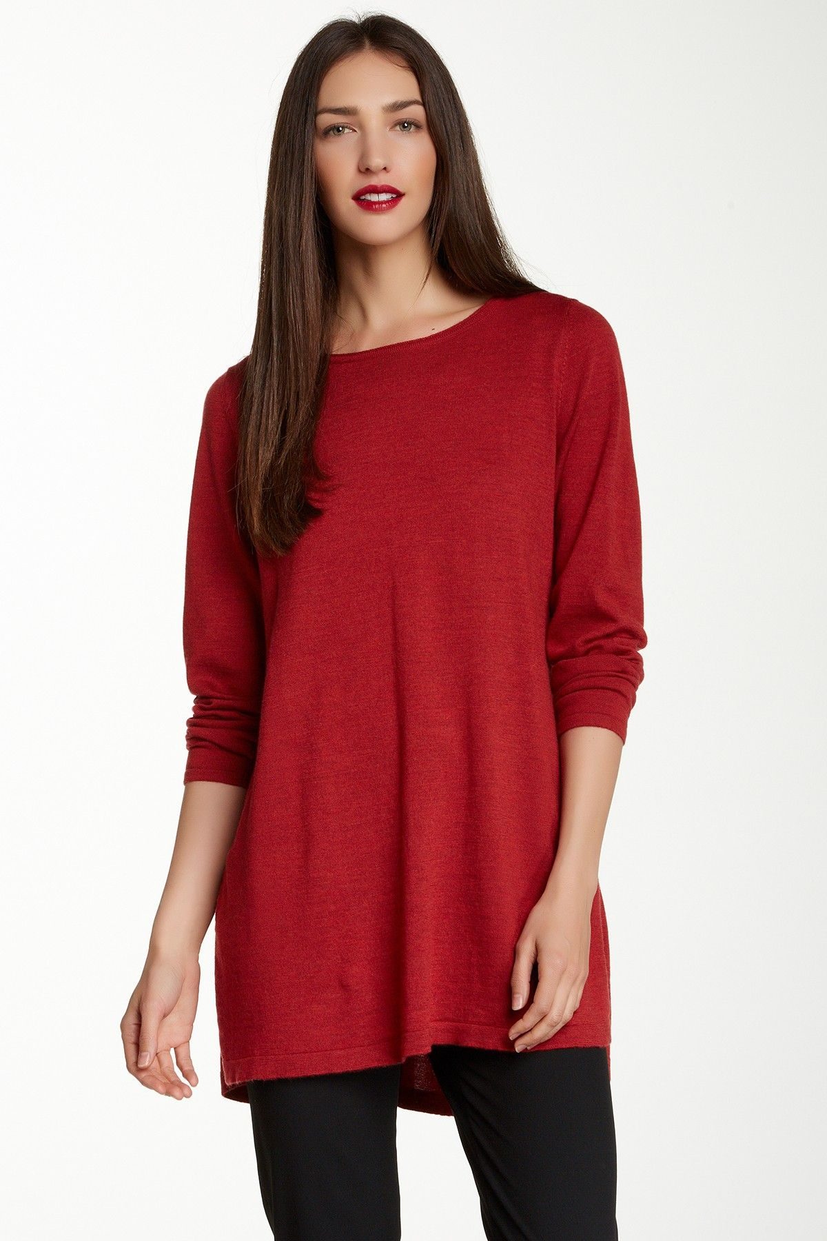 Cute and comfy for Christmas. Boatneck Swoop Back Lightweight ...