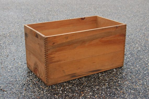 Dovetailed Wood Shipping Crate Finger Jointed Wooden