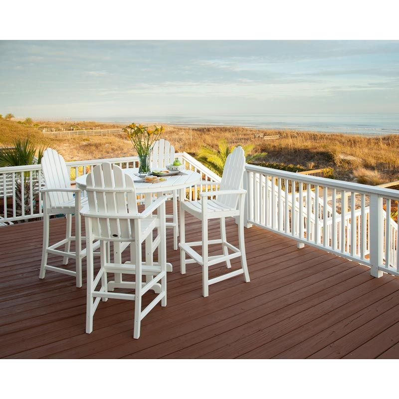 Adirondack Bar Chairs | Recycled Plastic Faux Wood | All Weather ...