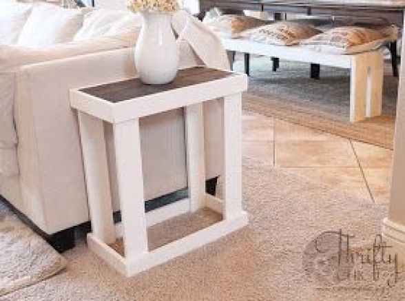 Diy Side Table From Thrifty And Chic Smallwoodcrafts