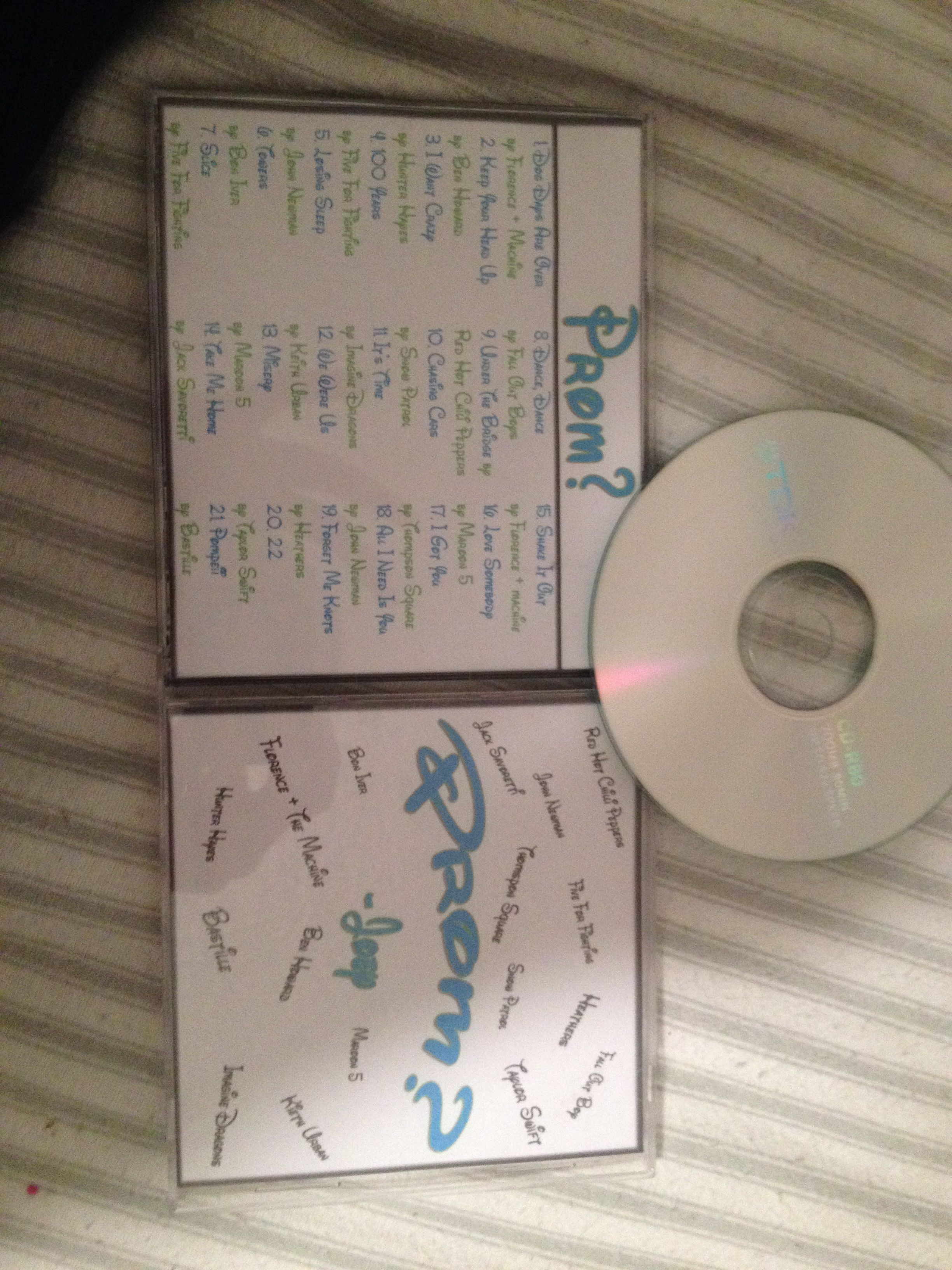 How I was asked to prom! So cute! A bunch of songs by ...