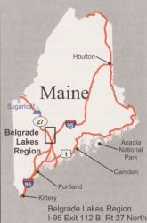 Map Of Maine Featuring The Belgrade Lakes Region Pretty Places