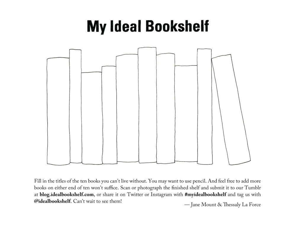 My Ideal Bookshelf Template