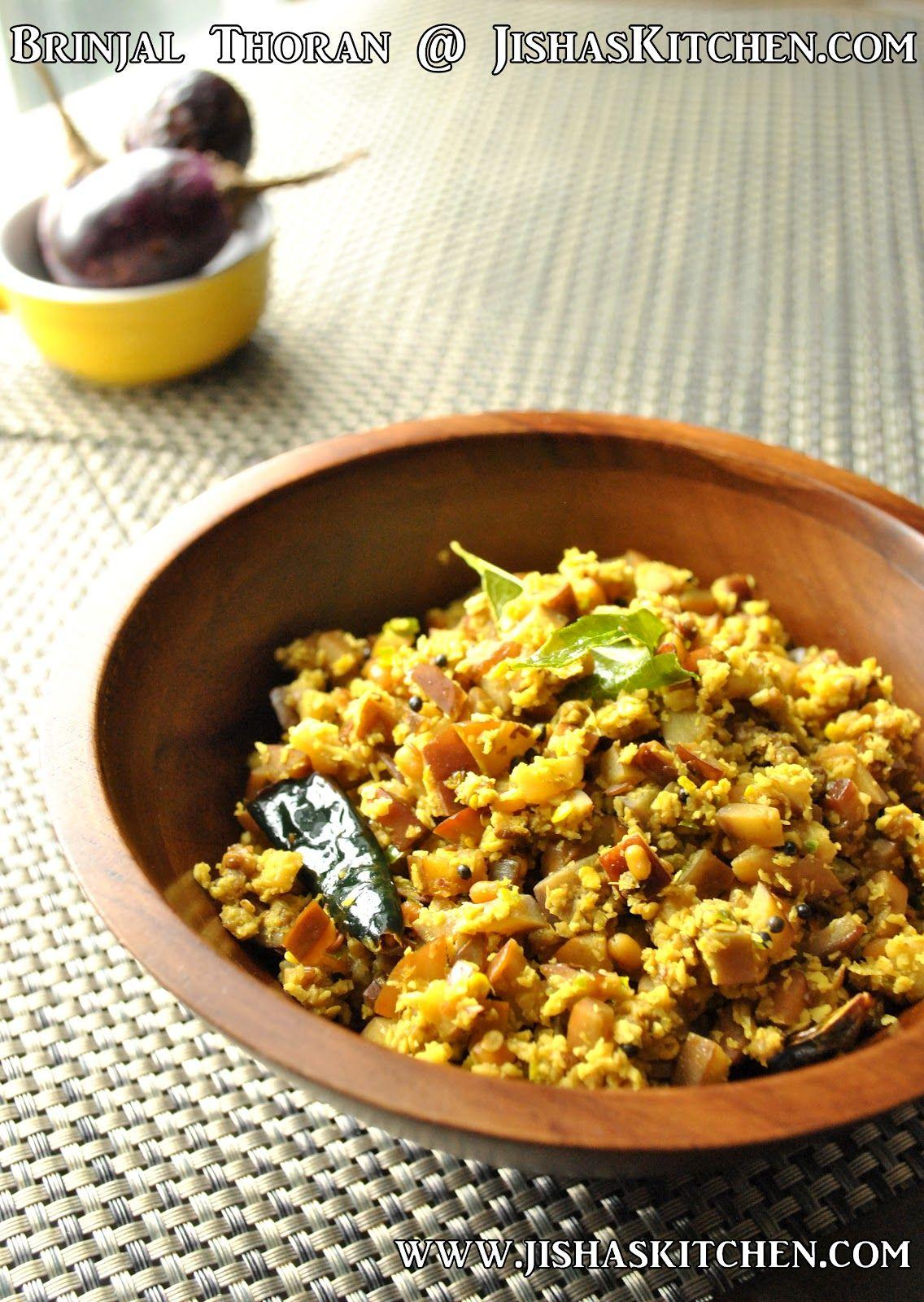 Jisha S Kitchen Brinjal Thoran Indian Recipes Kerala Nadan