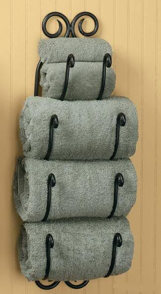 Tuscan Bath Towel Rack Bathroom Wall Mount Holder Wine 27\