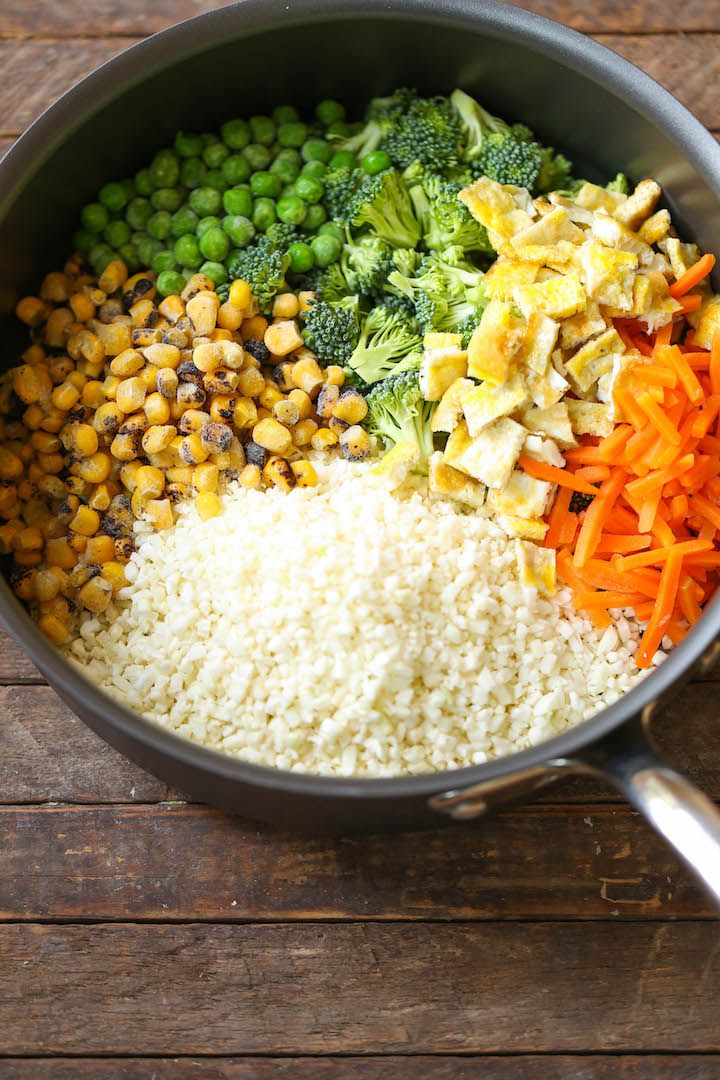10 Minute Healthy Cauliflower Rice   Detox   Dinner recipes, Cauliflower rice, Recipes