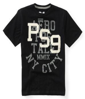 AERO Aeropostale Mens Long Sleeve Graphic logo Black T Shirt XS,S,M,L,XL,2XL,3XL