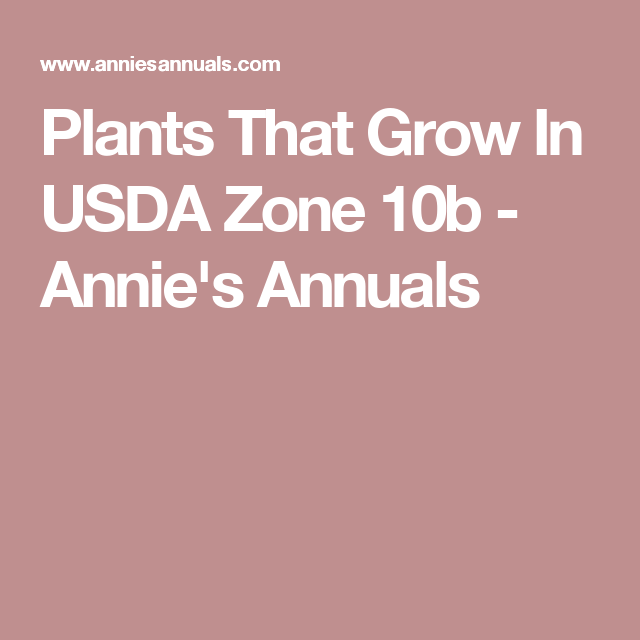 Plants That Grow In Usda Zone 10b