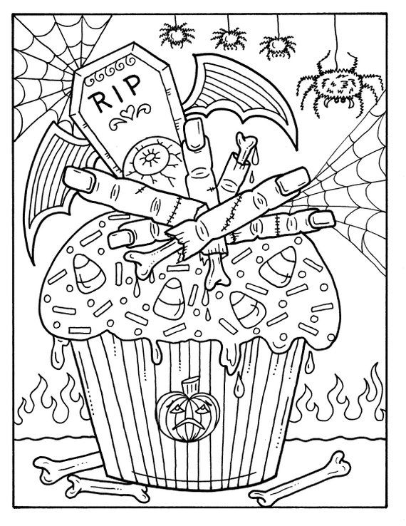 5 Pages Halloween Cupcakes To Color Instant Download Digital Etsy In 2021 Halloween Coloring Halloween Coloring Pages Halloween Coloring Book
