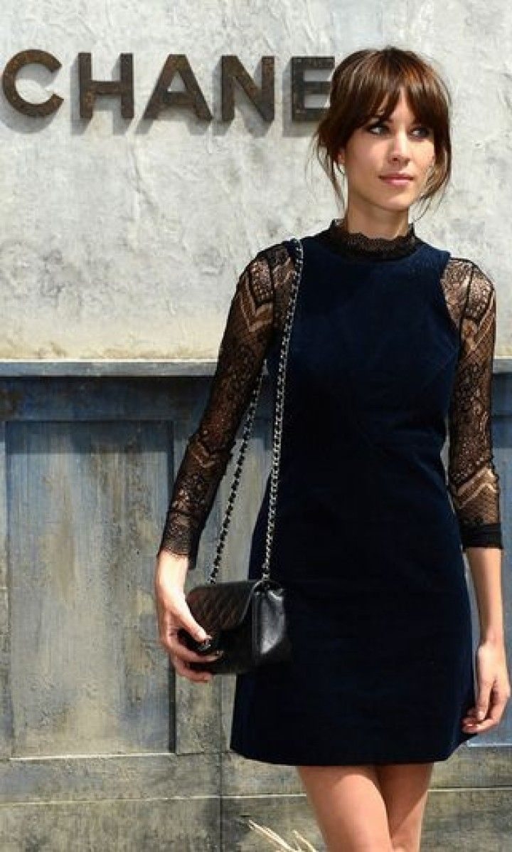 Alexa in black Chanel. fab. Paris.