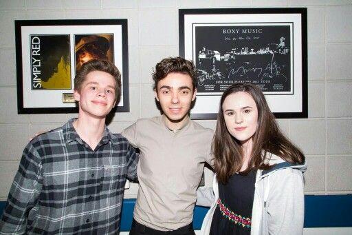 NathanSykes: Lovely to meet @mynameisluke_ and @CarlaaaAdams backstage at #GetWeirdTourLondon last night!!