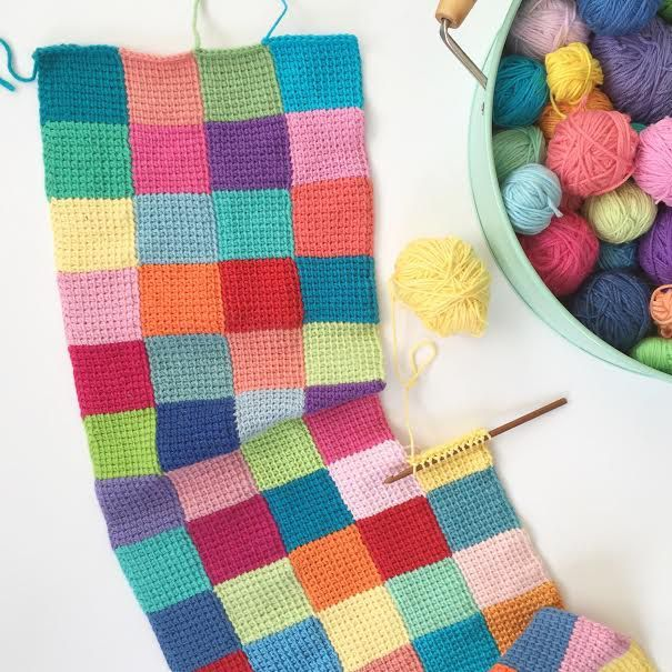 Stashbuster ganchillo tunecino crochet crochet y costura - Mantas de ganchillo faciles ...