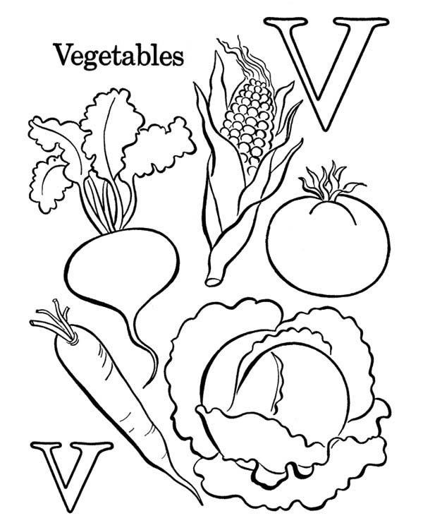 Food Alphabet Coloring Pages Pics