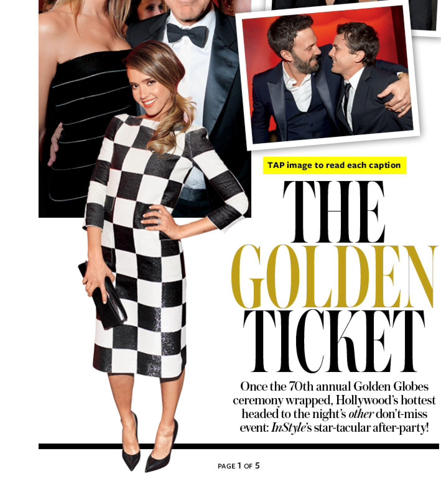 Very flattering pose by Jessica Alba, snatched from In Style Magazine!