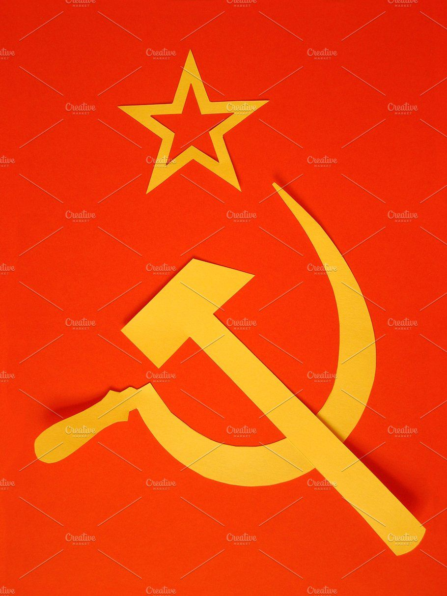 Hammer And Sickle In The Sunset Clipart Vector Hammer And Sickle Art Vector Illustration