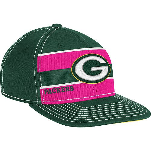 ad6f2cf56a1 Reebok Green Bay Packers Breast Cancer Awareness Sideline Player Hat ...