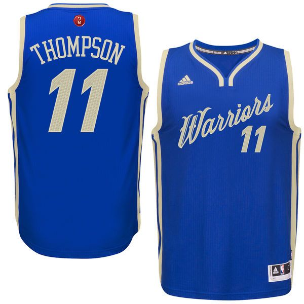 2015 Christmas Warriors #11 Thompson Blue Jersey | 2015 Christmas ...