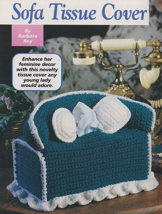 Sofa Tissue Box Cover Crochet Pattern | Utensilios, Barbie y Recetas ...