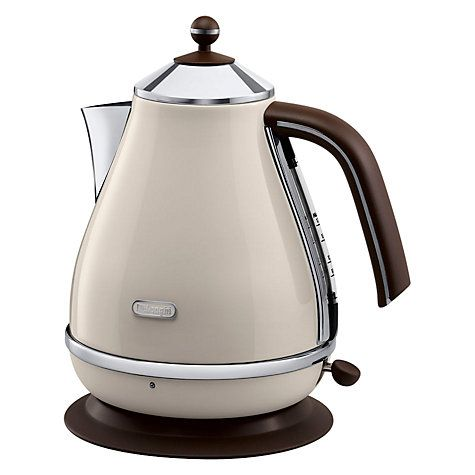 Buy De Longhi Vintage Icona Kettle And 4 Slice Toaster Cream John Lewis Delonghi Icona Electric Kettle Fishpools