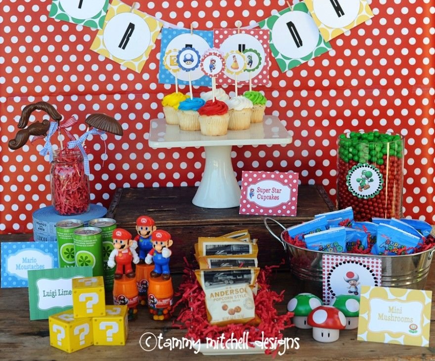 Super mario party ideas inspirations mario bros mario for Mario decorations