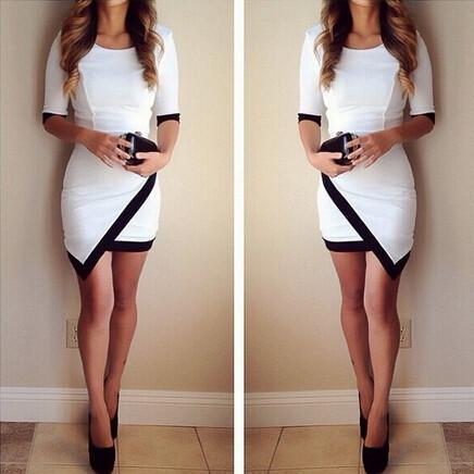 this womenslim half sleeve bodycon mini dress with